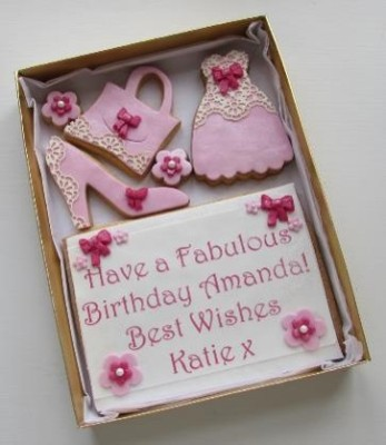 Pretty Ladies Lace Cookie Card
